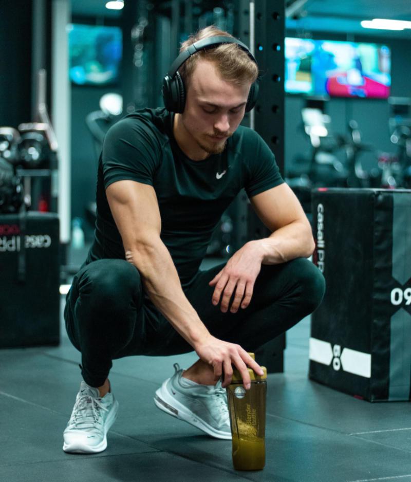 Proteinshake-på-gymmet