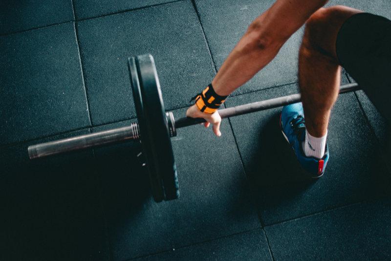 Vikter-på-gymmet
